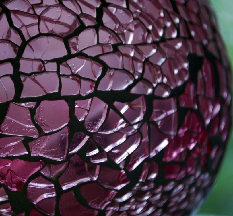 rosa krackelerad glaslykta